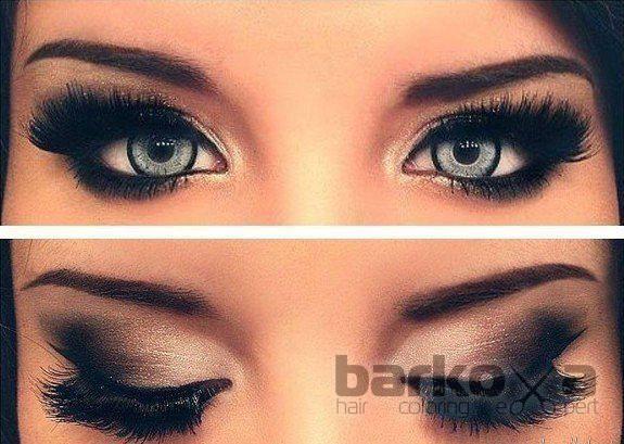Подиумный макияж глаз