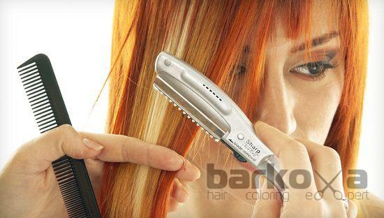 стрижка волос горячей бритвой