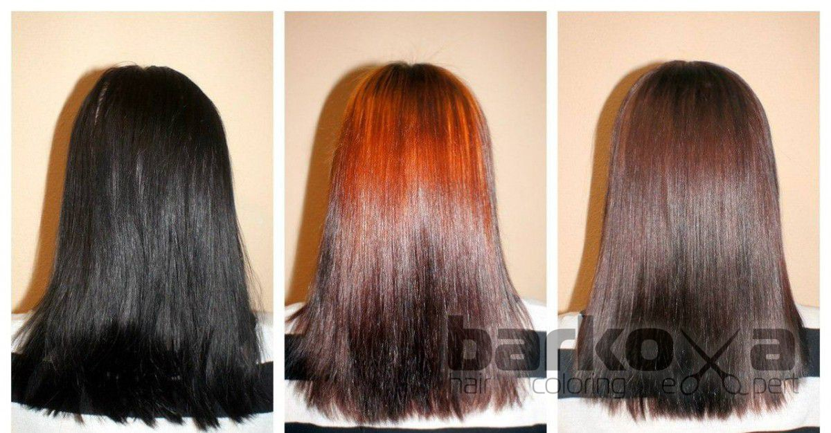 Декапирование волос или смывка цвета