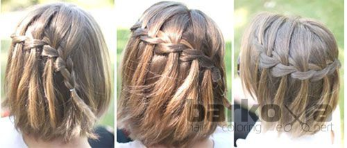 Плетения на короткие волосы