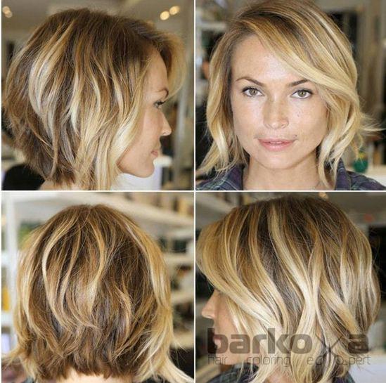 Брондирование на средние волосы