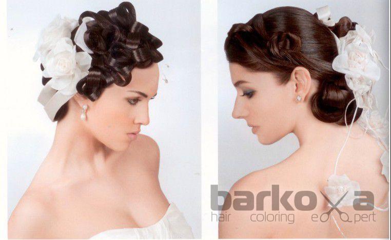Свадебные прически на убранные волосы с челкой